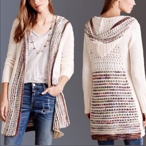 Angels of the North open cardigan small hood